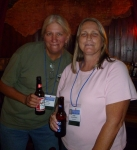 Vickey Miller and Linda Warblow at Dick O'Dow's