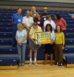 Class of '74 in new gym at SHS