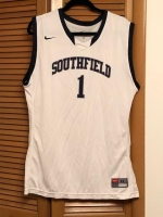 ITEM#1-$50  Official Southfield #1 High Basketball Jersey   Nike XL Size 40-42