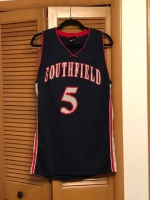 ITEM#3-$50 Official Southfield High #5  Basketball Jersey   Wilson Brand  Size 42