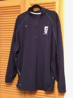 ITEM#6-$70 Official Southfield High  BlueJays Basketball  Nike Navy Warm Up Jacket  9 inch zipper  XL size- 44'Chest/33